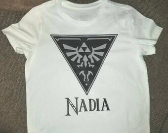 Triforce shirt- zelda shirt - triforce with bird shirt - Nintendo shirt - legend of Zelda shirt