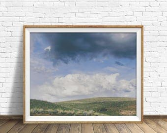 "landscape photography, clouds, nature prints, instant download printable art, printable wall art, landscape art, wall art -""Summer Breaking"""