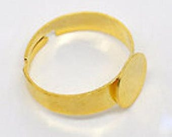 Adjustable ring gold 18.3 mm free shipping