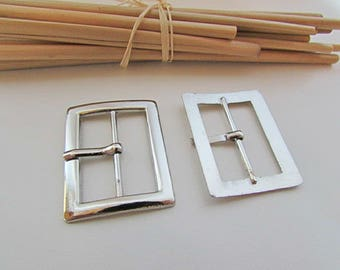 10 belt buckle for strap max 1.8 cm, 2.3 cm, silverplate