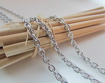 3 m chain stainless steel - mesh 3.5 x 2.5 mm - ref 57.50