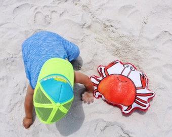 Crab Pillow. Crab Plushie. Crab Pillow Plush. Crab Toy Cushion. Cute Crab Printed Plush Pillow.