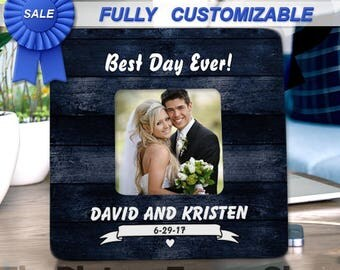 Wedding Gift For Couple Bridal Shower Gift For Bride and Groom Best Day Ever Custom Wedding Frame Gifts For Couple Rustic Wedding Gifts