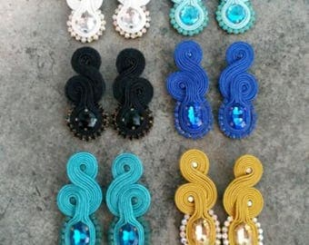 9 pairs of earrings soutache