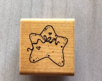 Shining Star Rubber Stamp