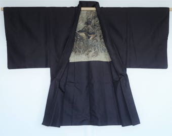 Mens HAORI― Dandyism  Fashion Short size men's kimono  jacket. Be inspired by the mysterious feelings. You can wear easily.