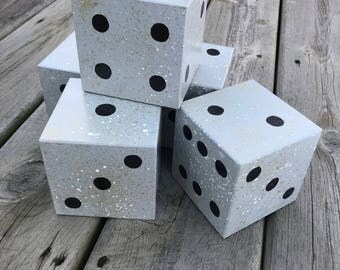 Hand-Painted Yard Dice