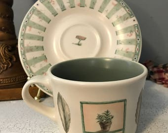 Pfaltzgraff Naturewood Coffee Mug Tea  Flat Cup & Saucer Sets