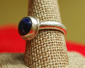 Ring 38- 9, Sodalite ring, Sterling Silver ring, Sodalite statement ring, Genuine gemstone ring, Rockhound gift