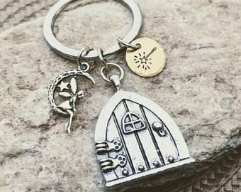 Fairy keychain, Fairy Gifts, Fairy Gifts for Girls, Fairy Door, Fairy Charms, Zipper Pull, Handbag Charms, Free Shipping, Gifts under 25