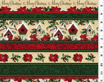 Home for the Holidays - Per Yd - Clothworks by Sue Zipkin - Border Print