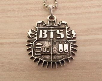 KPOP BTS Necklace (Custom) 925 Silver Plated Free Shipping