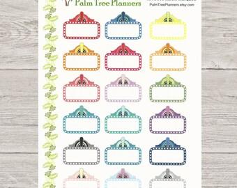 Movie Marquee Stickers for Erin Condren Vertical Planner