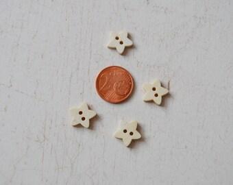 Buttons 4 wooden star set 98