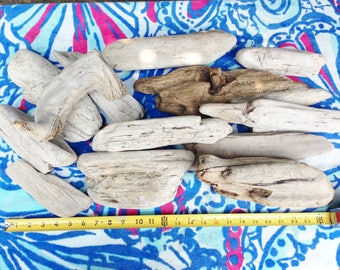 Driftwood 13 LG Piece  Beach Comber Set Craft Nautical Decor Weddings