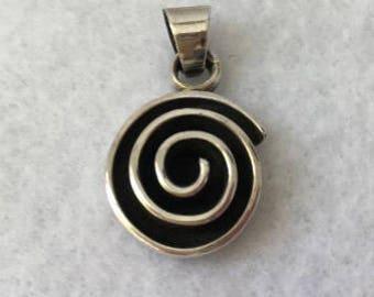 Sterling Sliver Spiral Charm (used)