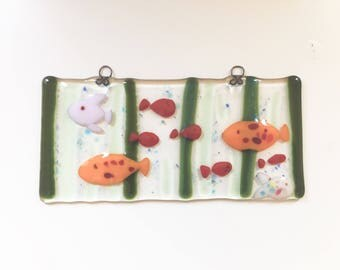 Glass wall hanging 'Underwater Adventure'