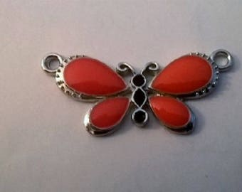 Butterfly orange body wings connector black