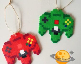 Perler Beads Sprite | Christmas Ornaments | N64 controllers