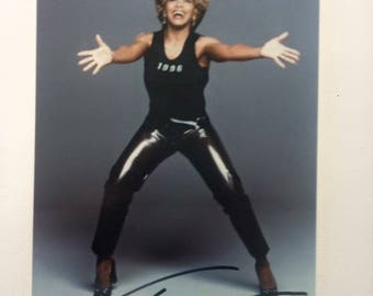 Tina Turner Hand Signed Autograph