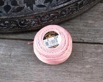 Coton perlé DMC coloris 224 n#8  - art 116 - pelote 10g