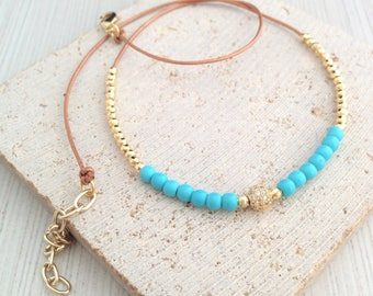 Turquoise Necklaces,Turquoise Bead Necklaces,Bead Necklaces,Gold Bead Necklaces,Cubic Circle Necklaces,Boho Necklace,Turquoise Boho Necklace