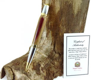 Real Wine Barrel Guest Book Writing Pen