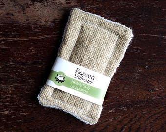 UnSponge Heavy duty - zero waste hessian kitchen sponge / cotton sponge / washing up sponge / plastic free / pan scrubber / scourer
