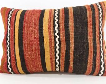16x24 Striped Kilim Pillow Throw Pillow Ethnic Kilim Pillow Sofa Pillow 16x24 Handwoven Kilim Pillow Cushion Cover SP4060-764