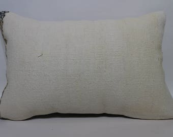 16x24 White Kilim Pillow Patterned Kilim Pillow Bedroom Pillow  Lumbar Pillow Throw Pillow Cushion Cover  Home Decor SP4060-851
