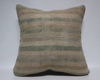 24x24 Handwoven Kilim Pillow Sofa Pillow 24x24 Striped Kilim Pillow Ethnic Pillow Bohemian Kilim Pillow Home Decor Cushion Cover SP6060-1448