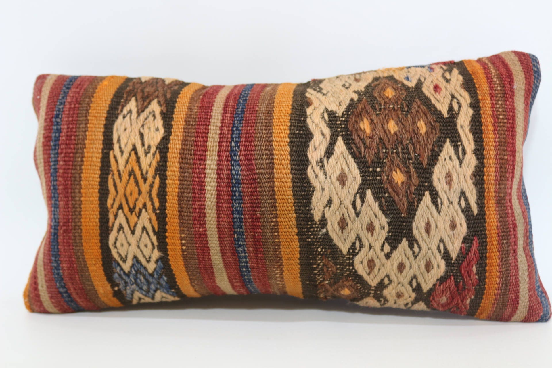 Turkish Kilim Floor Pillow : 10x20 Turkish Embroidered Kilim Pillow Floor Pillow 10x20