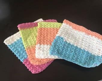 Baby wash cloths x4