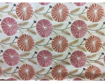 Lilly Belle Bubble Gum Floral Upholstery Fabric