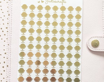 Foil Makeup Mirror Stickers | Planner Stickers