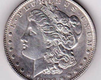 1896 Morgan Silver Dollar. Free shipping