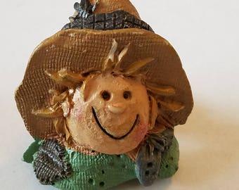 Vintage Scarecrow Halloween Pin, Scarecrow Pin