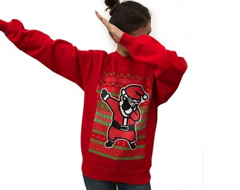 Dabbing Santa ugly Christmas Sweater for women , Xmas Sweater, Christmas party, Holiday gift
