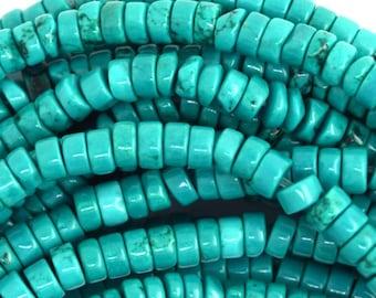 "4mm green turquoise heishi beads 15.5"" strand 36638"