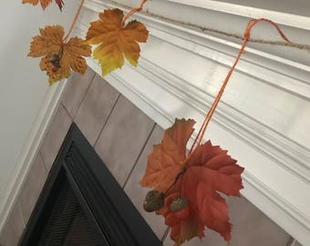 Fall garland - autumn decor - leaf garland - fall decor - thanksgiving decor - garland - acorn garland - halloween decor - fall wedding