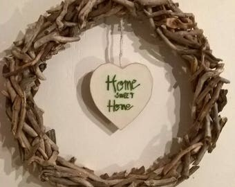 Wreath Driftwood wall decor, door