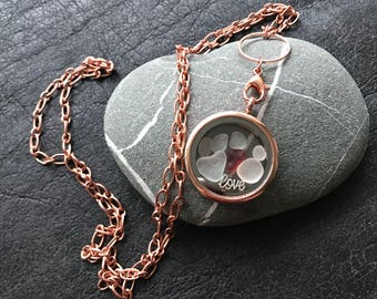 Love Locket Necklace. Ultra Rare Red English Sea Glass. Free Gift Box and free UK Delivery.