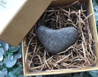 Love Gift. LOVE Heart Stones. All Natural Shaped. Gift Box included.