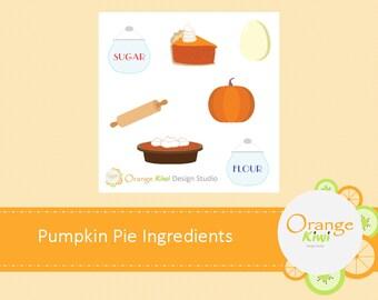 Pumpkin Pie Ingredients, Baking Day, Pumpkin Pie, Planner Stickers, Scrapbooking, Sample Sticker Set