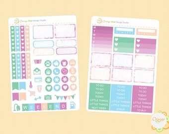 Marble Mini Kit, Marble Stickers, Mini Weekly Kit, Erin Condren Life Planner, Happy Planner, Filofax