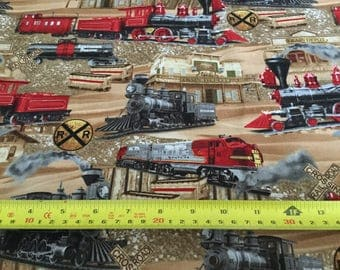 Timeless Treasure Train fabric  by the half yard