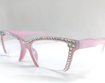 Reading Glasses Made with Authentic Swarovski Crystals +1.75 +3.50