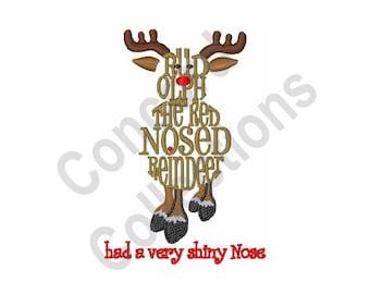 Rudolph Reindeer - Machine Embroidery Design