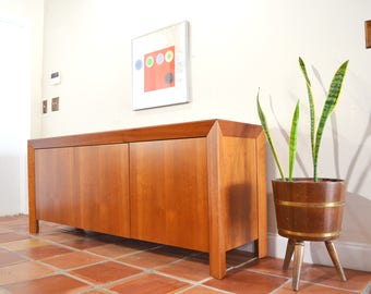 Danish Modern Cabinet Console Credenza by Skovby Mobler