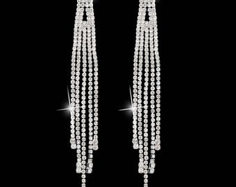 Ava Clear Crystal NPC Bikini Fitness Competition Earrings
